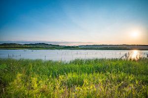 印旛沼写真(長時間露光)