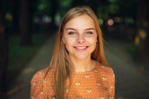 女の子のポートレート写真