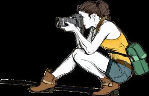 女性カメラマンイラスト