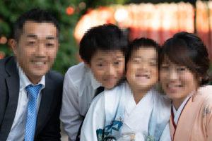 七五三家族写真(アップ)