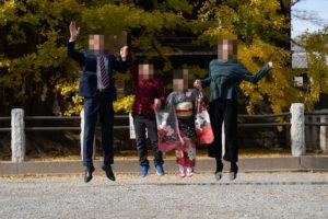 家族写真(ジャンプ)