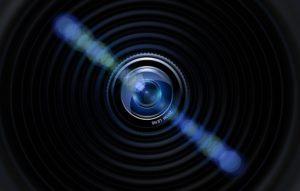 カメラのレンズのイラスト